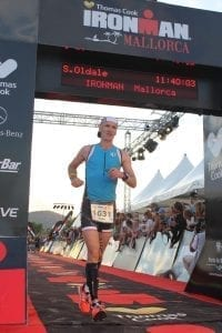 Steven Oldale Chiropractor from Back In Form finishing his first Ironman.