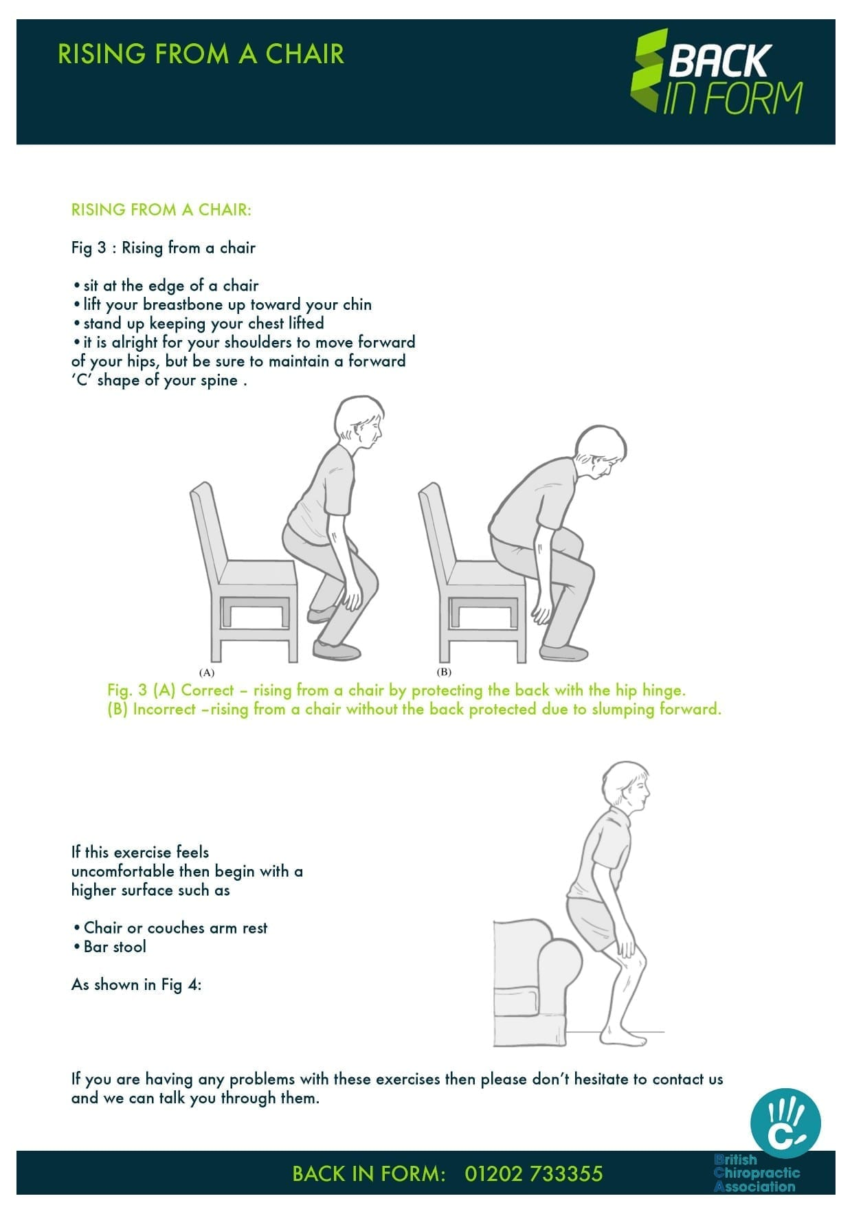 Back Pain Exercise How To Get Up From A Chair Chiropractic