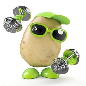 Weight lifting potato
