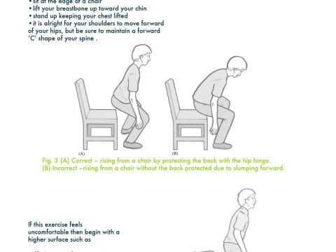 Rising from a chair exercise